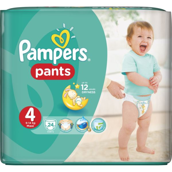 Pampers Памперс гащи CP S4 Maxi  9-15кг  24 бр. 0202428